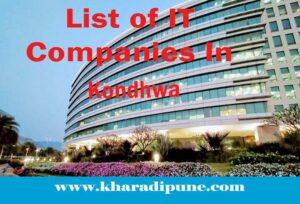 List of IT Companies In Kondhwa